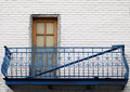 Greek style balcony in Montreal Royalty Free Stock Photo