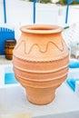 Greek style ceramic vase, architectural detail Royalty Free Stock Photo