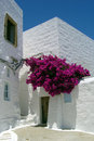Greek style the typical architecture of patmos island Stock Photos