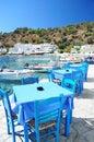 Greek tavern in Loutro,Crete Royalty Free Stock Photo