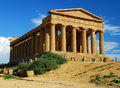 Greek temple in Agrigento / Sicily Royalty Free Stock Photo
