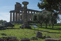 Greek Temple of Ceres, Paestum, Cilento Italy Royalty Free Stock Photo