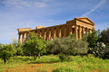 Greek temple of concordia agrigento sicily italy Royalty Free Stock Photo
