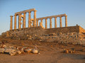 Greek Temple of Poseidon Sounio Royalty Free Stock Photo