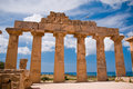 Greek temple in Selinunte Stock Photography