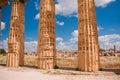 Greek temple in Selinunte Stock Photography