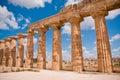 Greek temple in Selinunte Royalty Free Stock Image