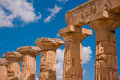 Greek temple in Selinunte Stock Images