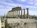 Greek temple in selinunte the image shows the ruins of a sicily Royalty Free Stock Photos