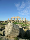 Greek temple in selinunte the image shows the ruins of a sicily Stock Images