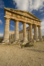 The Greek Temple sicily Stock Photo