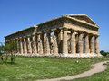 A greek temple in south italy an ancient and columns Royalty Free Stock Image