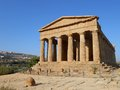 Greek temple a view of a Royalty Free Stock Image