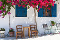 Greek Terrace Royalty Free Stock Photo