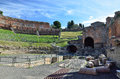 Greek theater in the ancient town Taormina Royalty Free Stock Photo