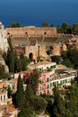 Greek Theater, Taormina, Sicily Stock Images