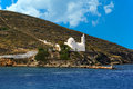 Greek traditional chapel in Ios island Stock Photography