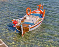 Greek traditional fishing boat Stock Images