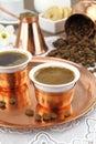 Greek or Turkish coffee Royalty Free Stock Photo