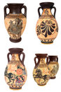 Greek Vases Collage Stock Photo
