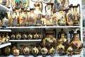 stock image of  Greek vases in a souvenir shop