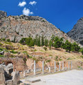 Greeks ruins at Delphi Stock Photography