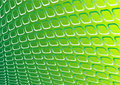 Green 3d metal vector Stock Photography