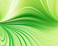 Green abstract background curved lines Stock Image