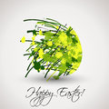 Green abstract easter egg easter spring cocnept Stock Photo