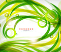 Green abstract eco wave swirls with lights for backgrounds nature banners Stock Image