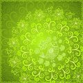 Green abstract floral ornament background Stock Images