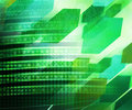 Green Abstract Future Science Background Texture Stock Photography