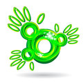 Green abstract hands icon Royalty Free Stock Image