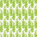 Green abstract leaves in relaxed vertical geometric design. Seamless vector pattern on light background Great for spa