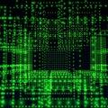 Green abstract matrix Stock Photo