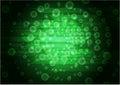 Green abstract modern background. Vector design