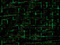Green Abstract Programming Code Background Royalty Free Stock Images