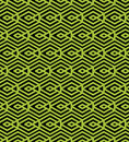 Green abstract seamless pattern with interweave lines vector ornament wallpaper endless decorative background visual effect Stock Photos