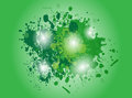 Green abstract splash vector backround Royalty Free Stock Images