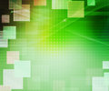 Green Abstract Squares Background Royalty Free Stock Photo