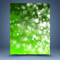 Green abstract template and white background Stock Image