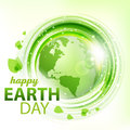 Green abstract vector background with Earth Royalty Free Stock Photo