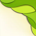 Green abstract wavy background Royalty Free Stock Images