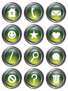 Green Action Buttons Royalty Free Stock Image