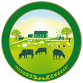 Green Agriculture badge Stock Image