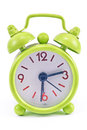 Green alarm clock Royalty Free Stock Image