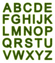 Green alphabet - capital letters Royalty Free Stock Photo