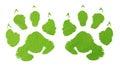 Green animal footprint Royalty Free Stock Photo
