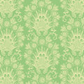 Green Antique Vintage Flower background Royalty Free Stock Photo