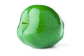 Green apple a delicious on white background with shadows Royalty Free Stock Image